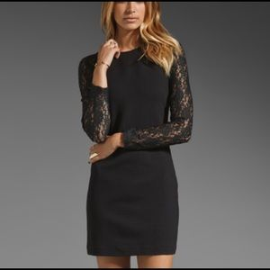 Juicy Couture Black Lace Raglan Sleeve Dress Med